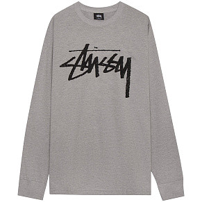 Мужской лонгслив Stussy Stock (Grey Heather)