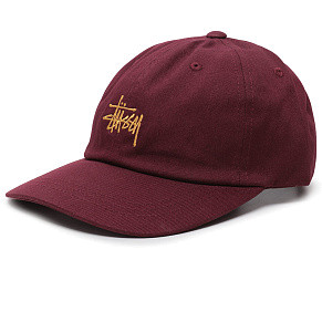 Кепка Stussy Stock Low Pro (Burgundy)