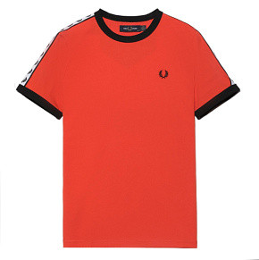 Женская футболка Fred Perry Taped Ringer (Tangerine Tango)