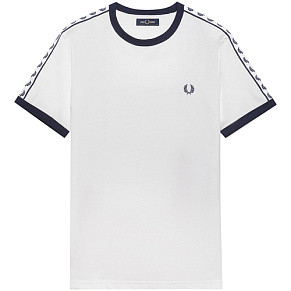 Женская футболка Fred Perry Taped Ringer (Snow White)