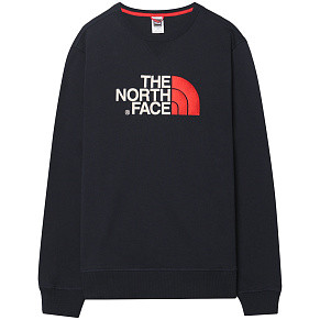 Мужская толстовка The North Face Drew Peak Crew (Navy - Red)