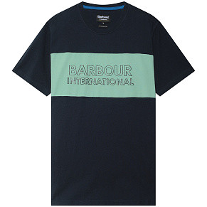 Мужская футболка Barbour International Panel Logo (Navy)