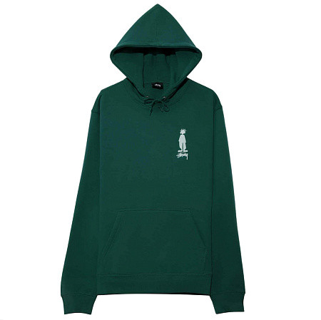 Мужская толстовка Stussy King Raggamaffin Hood (Dark Green)