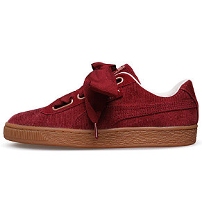 Женские кроссовки Puma Basket Heart Corduroy (Pomegranate)