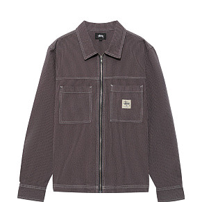 Мужская рубашка Stussy OverDyed Hickory Ls Zip (Purple)