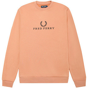 Женская толстовка Fred Perry Embroidered (Iced Coral)