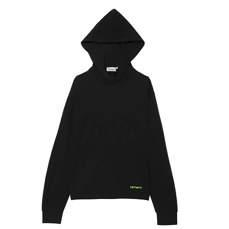Женская толстовка Carhartt WIP Hooded Neo (Black - Lime)