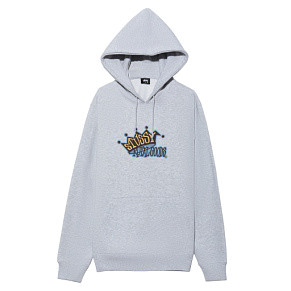 Мужская толстовка Stussy Royal Goods Hood (Ash Heather)