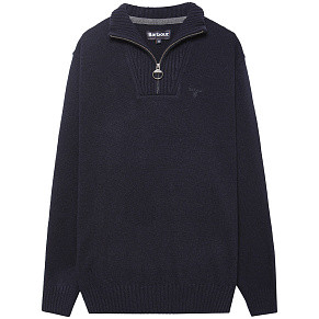 Мужской свитер Barbour Essential Lambswool Half Zip 2 (Navy)