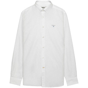 Мужская рубашка Barbour Oxford Tailored Fit (White)