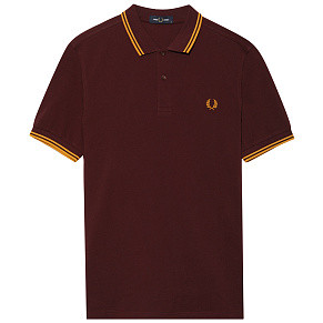 Мужское поло Fred Perry Twin Tipped (Mahogany - Gold)