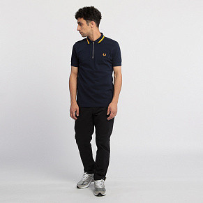 Мужское поло Fred Perry Vinyl Tipped (Carbon Blue)
