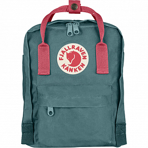 Fjallraven Kanken Mini Backpack (Frost Green-Peach Pink)
