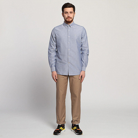 Мужская рубашка Barbour Oxford Tailored Fit (Indigo)