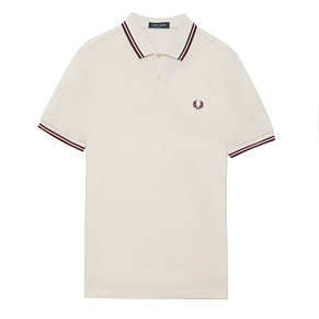 Мужское поло Fred Perry Twin Tipped (Vanilla)