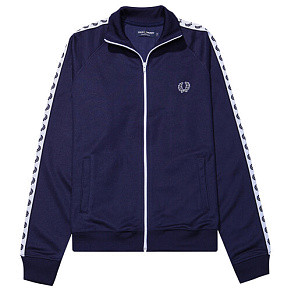Мужская олимпийка Fred Perry Taped Track 1 (Carbon Blue)