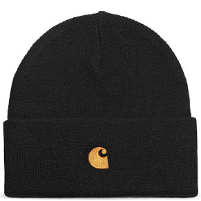Шапка Carhartt WIP Chase Beanie (Black - Gold)