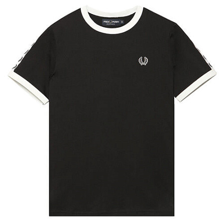 Женская футболка Fred Perry Taped Ringer (Black)