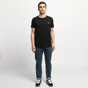 Мужская футболка Fred Perry Twin Tipped (Navy)