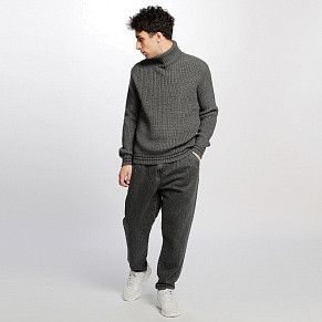 Мужской свитер Edwin Line Rollneck (Grey Heather - Navy Garment Wash)