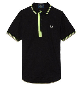 Мужское поло Fred Perry Narifuri Placket (Black)