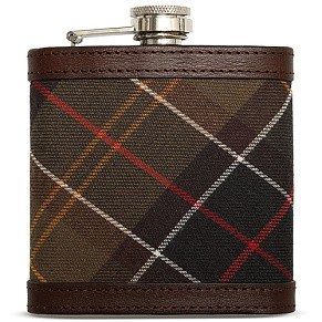 Фляга Barbour Hip Flask Tartan (Brown)