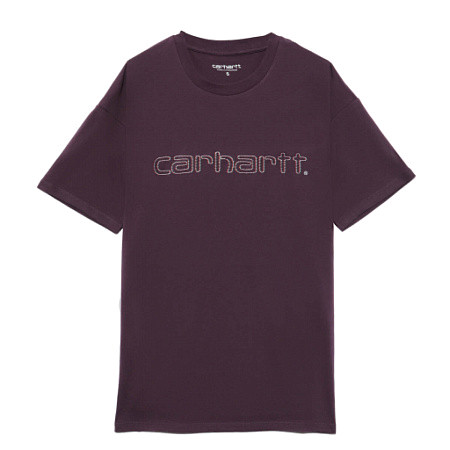 Женская футболка Carhartt WIP Commission Script (Boysenberry)