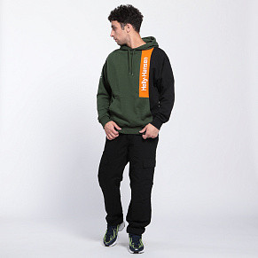 Мужская толстовка Helly Hansen YU Blocked Hoodie (Mountain Green)