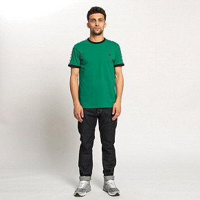 Мужская футболка Fred Perry Taped Ringer (Pitch Green)