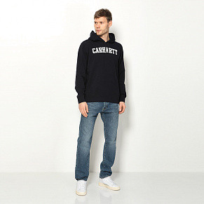 Мужская толстовка Carhartt WIP College Hooded (Dark Navy)