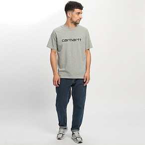 Мужская футболка Carhartt WIP Script (Grey Heather)