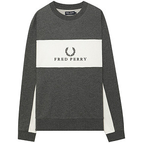 Мужская толстовка Fred Perry Panel Piped (Charcoal Marl)