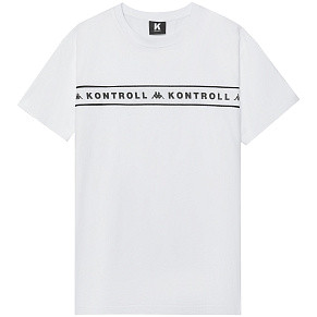 Мужская футболка Kappa Kontroll Banda Chest (Grey - Silver - White)