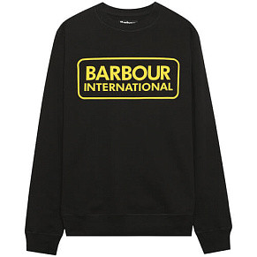 Мужская толстовка Barbour International Large Logo Crew (Black)