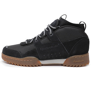 Мужские кроссовки Reebok Classic Workout Plus Ripple (Black)
