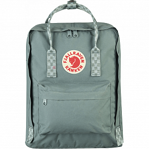 Fjallraven Kanken Backpack (Frost Green-Chess Pattern)