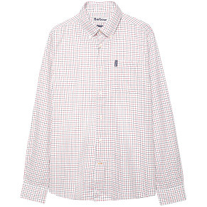 Мужская рубашка Barbour Tattersall (White - Red)